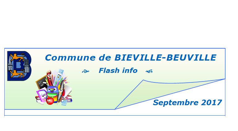 Flash info de septembre 2017