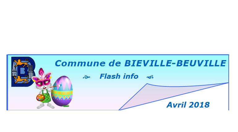 Flash info d'avril 2018