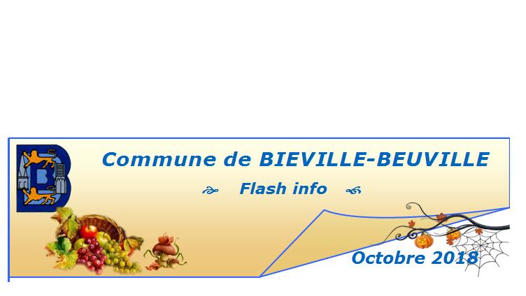 Flash info d'octobre 2018
