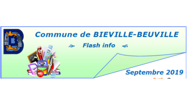 Flash info de septembre 2019